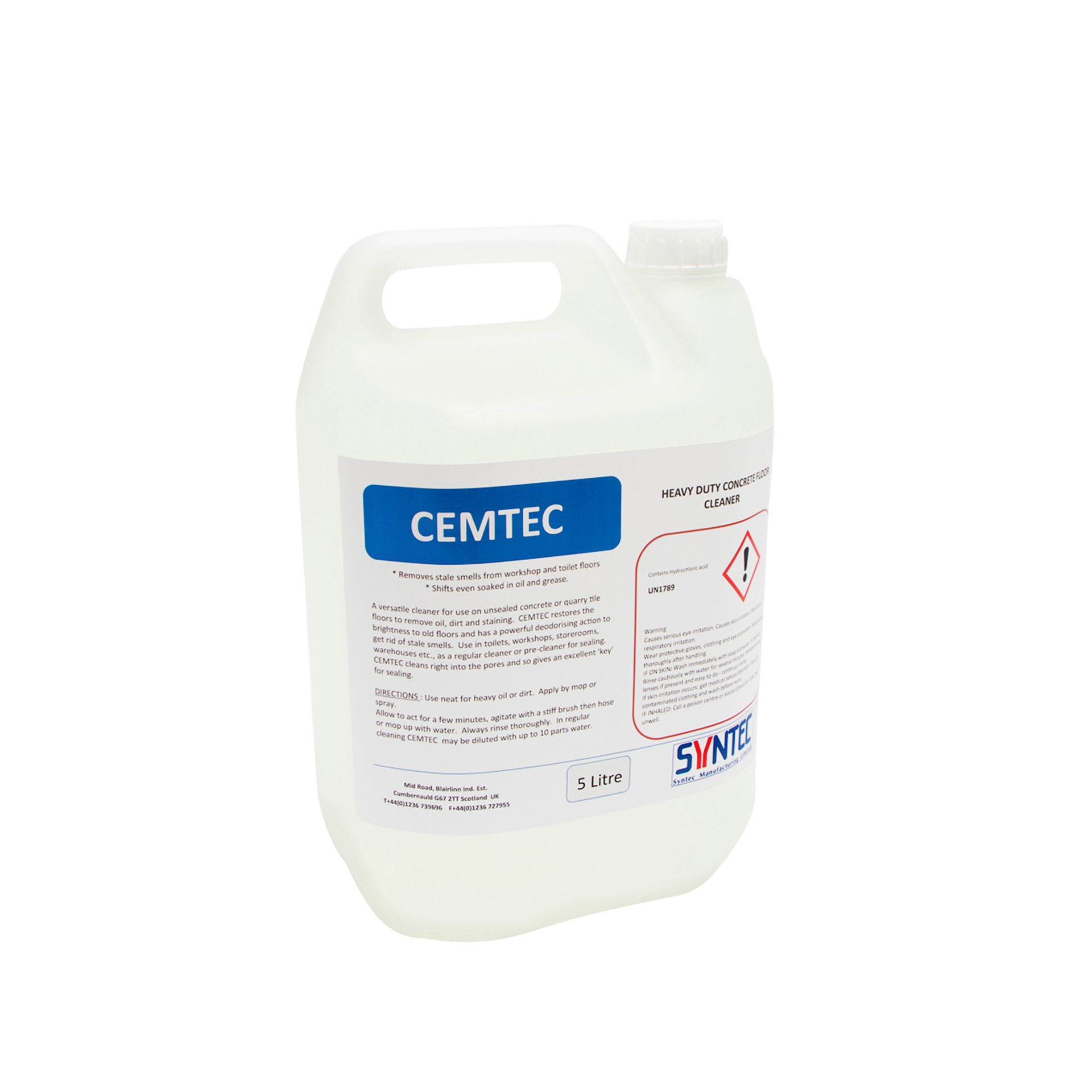 Heavy Duty Concrete Floor Cleaner Cemtec Syntec